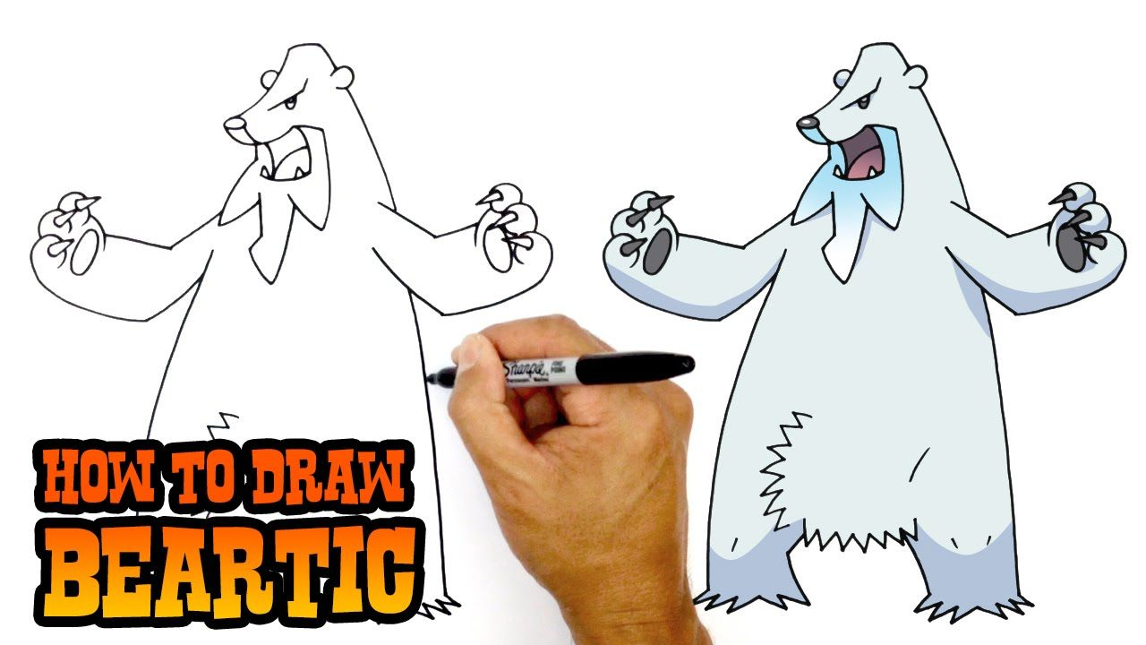How To Draw Beartic Pokemon Kids Art Lesson