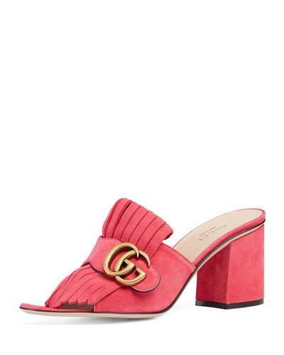 301121260cf GUCCI Marmont Suede 75Mm Mule