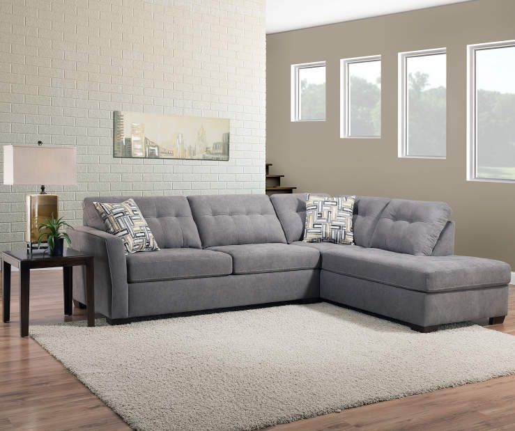 Simmons Pasadena Gray Living Room Sectional At Lots