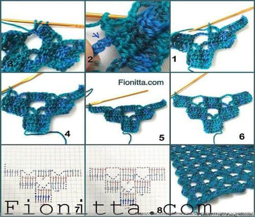Patron para hacer un chal triangular a crochet02 | blusas ...