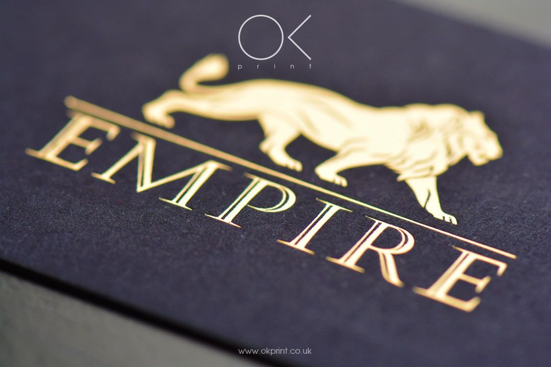 okprint.co.uk Luxury Business Cards with Gold Foil. www.okprint.co ...