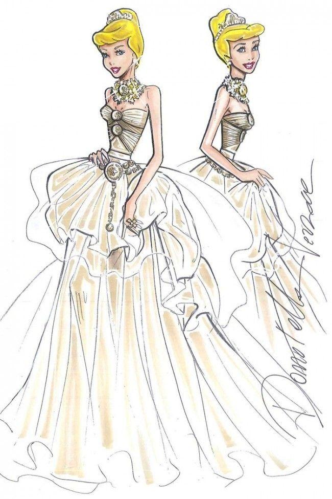designer disney princesses sketches cinderella by versace 650x975 Harrods' Disney Princesses