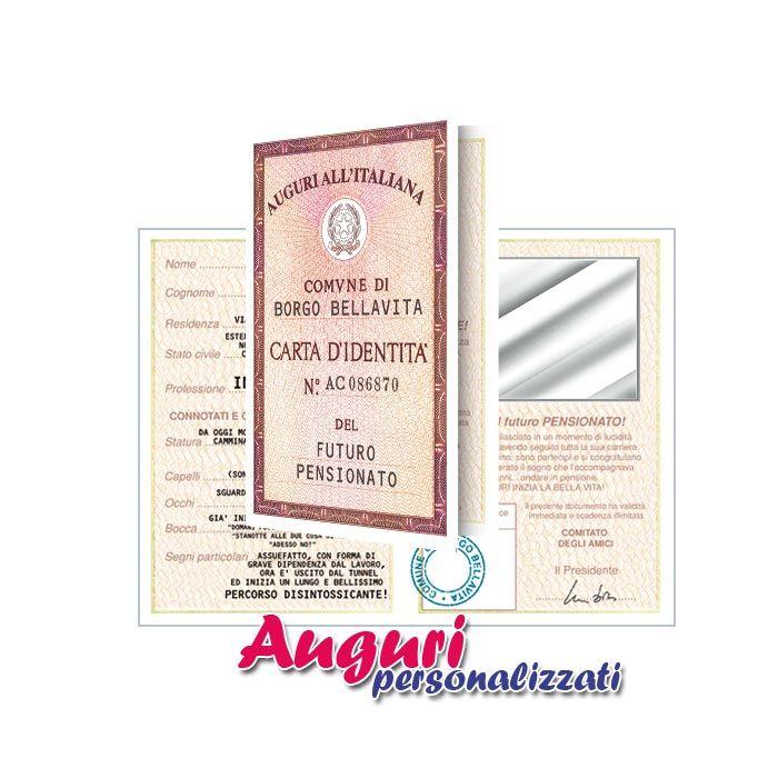 Biglietto carta d 39 identit di applicata all 39 interno una carta a specchio un - Carta a specchio ...