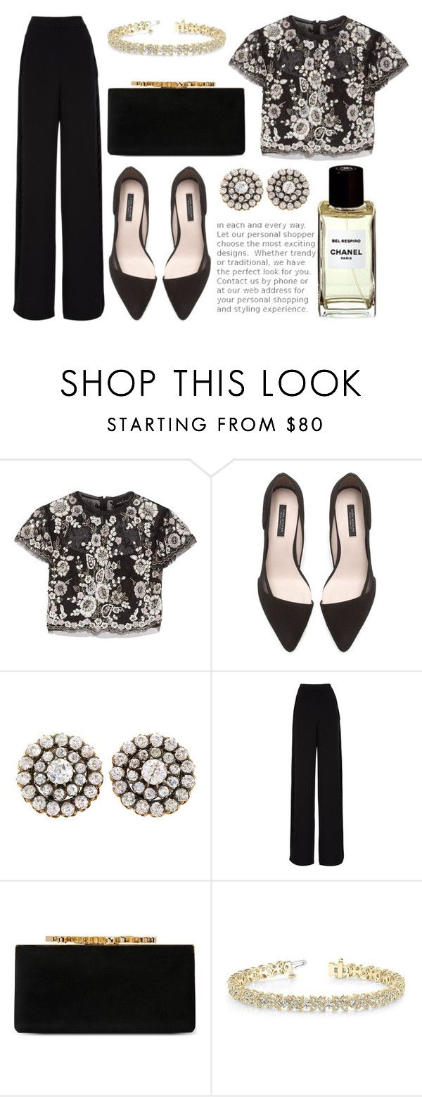 """Худосочные феи"" by willneverdie ❤ liked on Polyvore featuring Needle & Thread, Zara, Rochas, Jimmy Choo and Allurez"