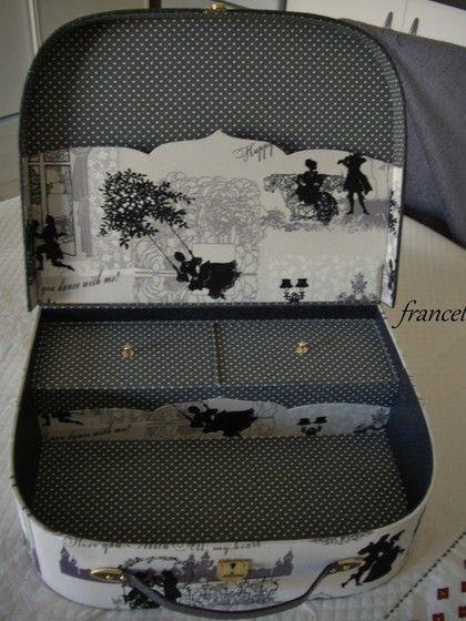 Malette de france cartonnage pinterest cartonnage et for Malette a couture