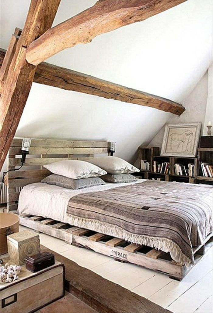 Bett Aus Paletten Sofa Aus Paletten Paletten Bett Möbel Aus Paletten  Zusammen | DIY   Do It Yourself   Selber Machen   Europaletten | Pinterest  | Dekoration
