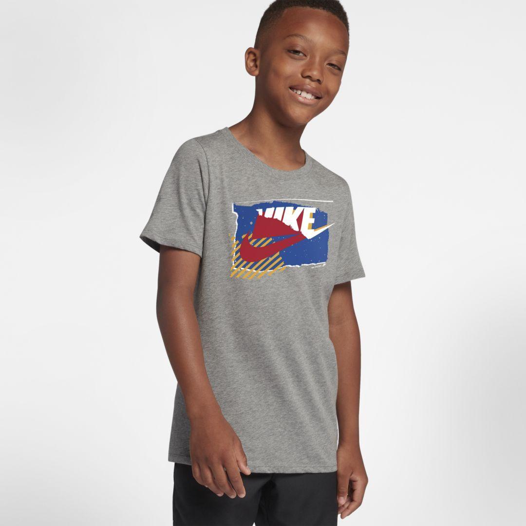 d9d682f0 Nike Sportswear Gym Vintage Big Kids' T-Shirt Size M (Dark Grey Heather)