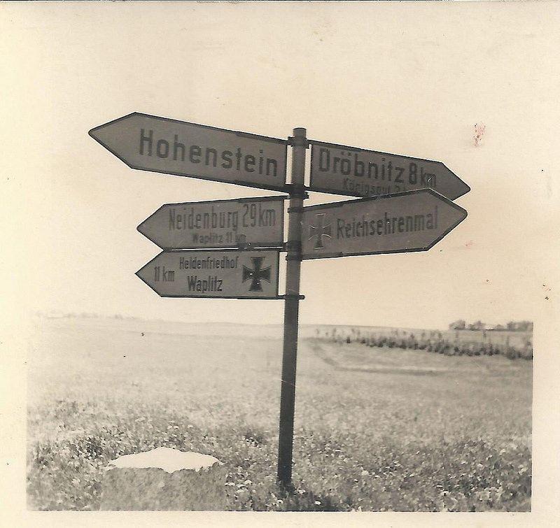 Ehrenfriedhof Waplitz (undatiert)Die Anlage befindet sich an der ...