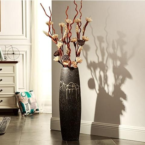 Photo of Minimalist Designer Floor Flower Vase