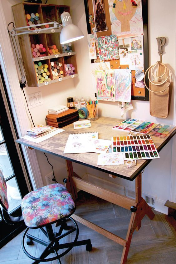 """""""Like many artists, I love color, nature, and beautiful design, but I am also inspired by people's stories and hearts."""" Stephanie Miller Corfee shares her whimsical art style inside Where Women Create."""
