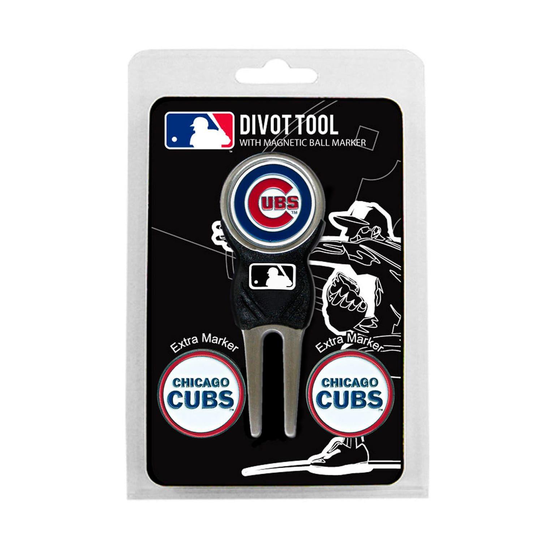 Team Golf Chicago Cubs 4 Pc Divot Tool Ball Marker Set Ball Markers Team Golf Divot Tool