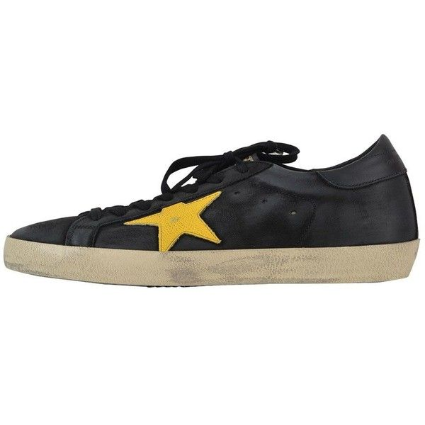 Black Superstar Sneaker ($341) ❤ liked on Polyvore featuring men's fashion, men's shoes, men's sneakers, black, menshoes, mens leather lace up shoes, mens black sneakers, g star mens shoes, mens black shoes and mens black leather shoes