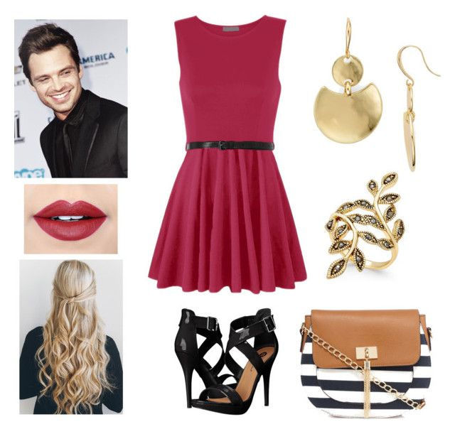 """""""date with Sebastian Stan"""" by monica-baugh on Polyvore featuring WearAll, Michael Antonio, Robert Lee Morris, INC International Concepts, Call it SPRING and Fiebiger"""