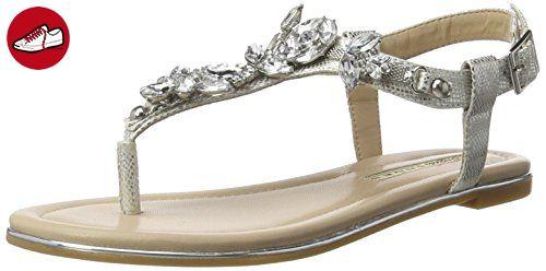 Buffalo Shoes Damen 14S07-39 IMI Suede Zehentrenner, Mehrfarbig (Nude 01), 38 EU