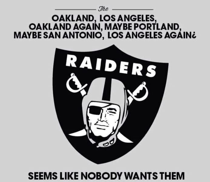 Funny Raiders Meme With Images Funny Football Memes Football Memes Nfl Football Memes