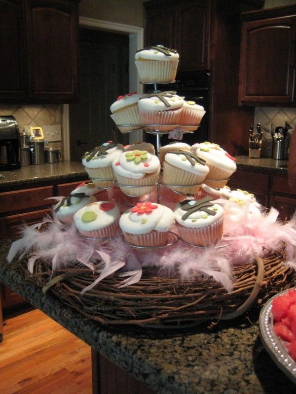 LOVE this...feathers & nest {bird theme, K's shower}