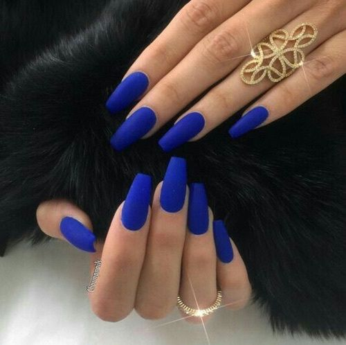 Daaujanaflorence Blue Matte Nails Coffin Nail Colors Acrylic