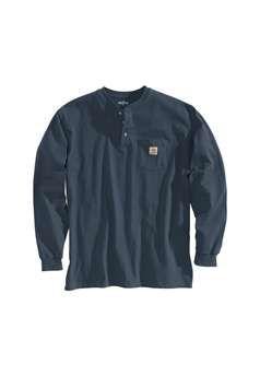 Carhartt Mens K128 Long Sleeve Workwear Henley Shirt - Bluestone | Buy Now at camouflage.ca
