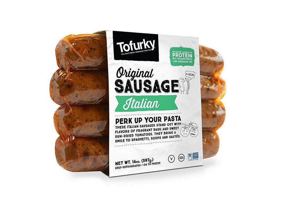 10 Delicious Foods You Won T Believe Are Vegan All Available On Amazon Tofurky Vegan Sausage Sausage