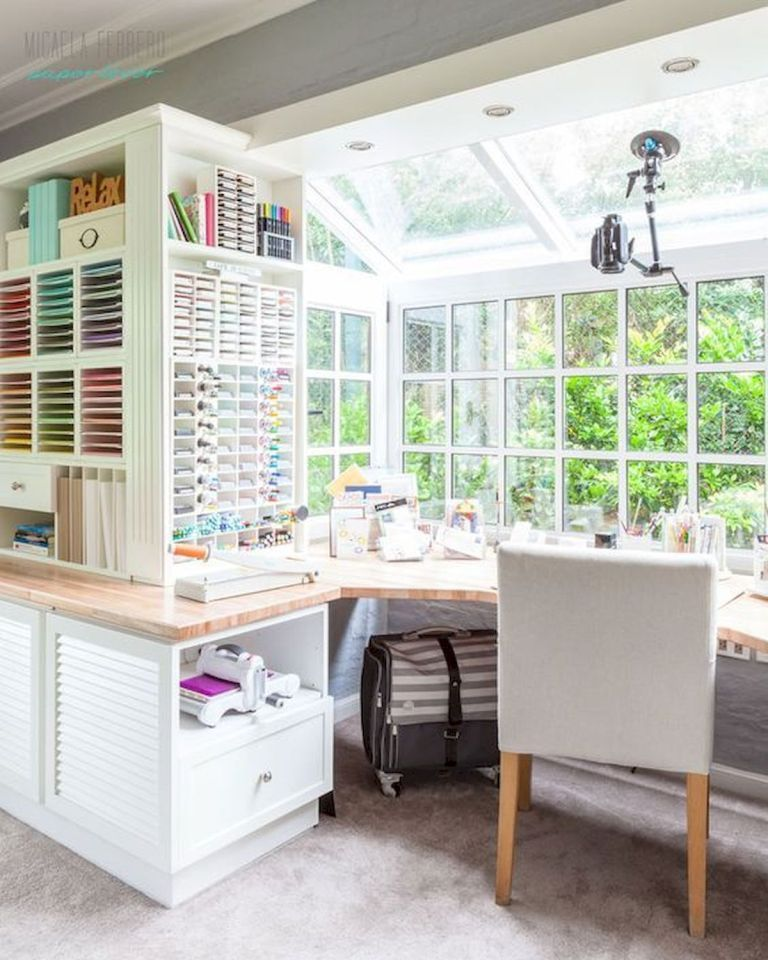 10x10 Room Layout Craft: 30 Awesome Craft Rooms Design Ideas (12
