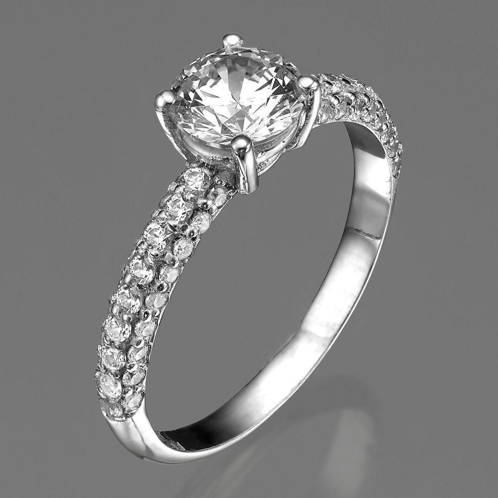 69a894a58 1 3/4 Carat Round Cut D SI1 Diamond Engagement Ring 14K White Gold Enhanced  (eBay Link)