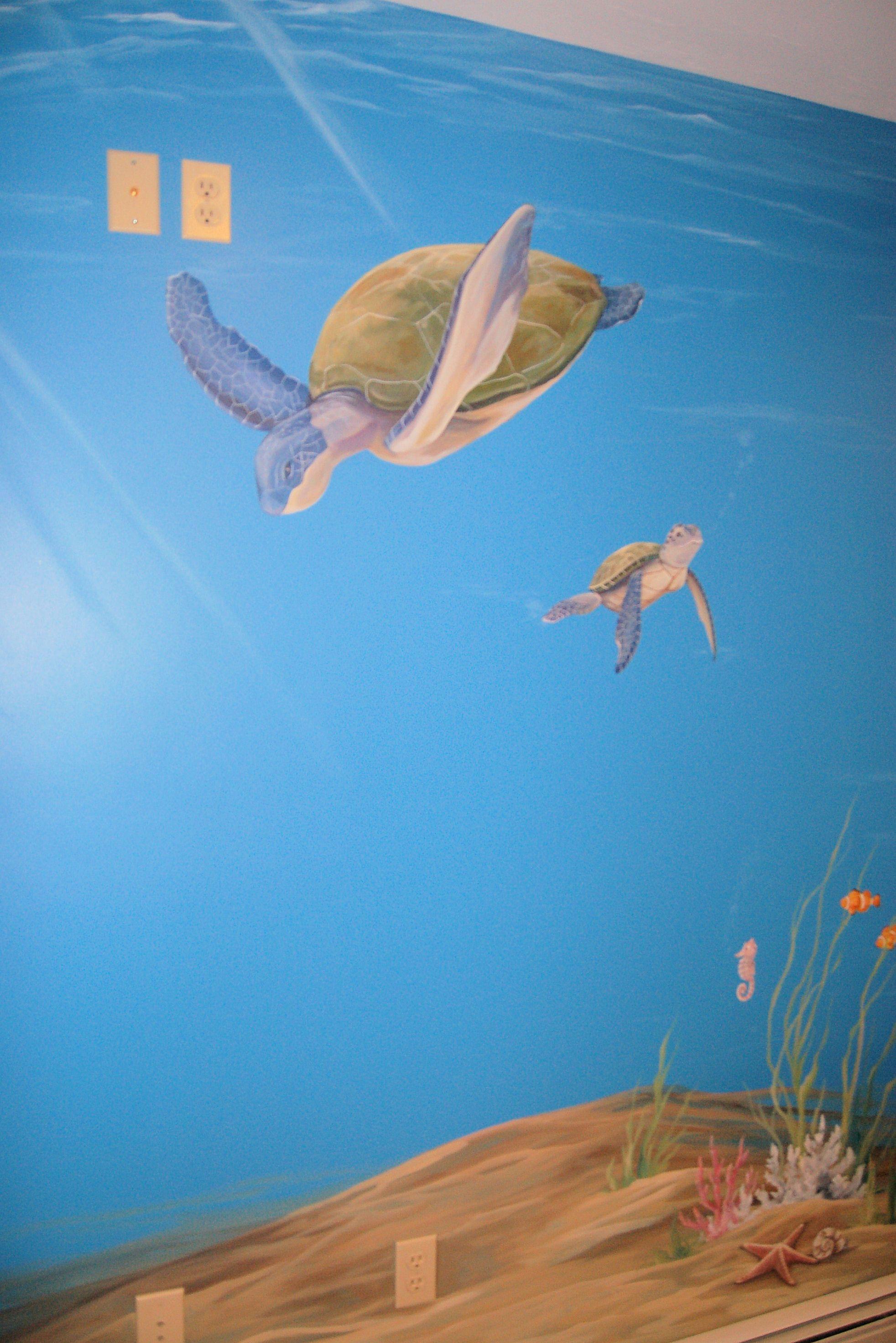 Ocean Mural In Kids Room Ocean Mural Kids Room Murals Art Wall