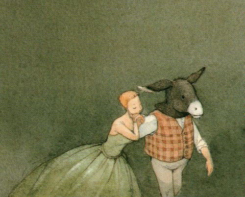 Detail from one of the illustrations for 'The Naughty Boy' in Hans Christian Andersen's Fairy Tales selected and illustrated by Lisbeth Zwerger