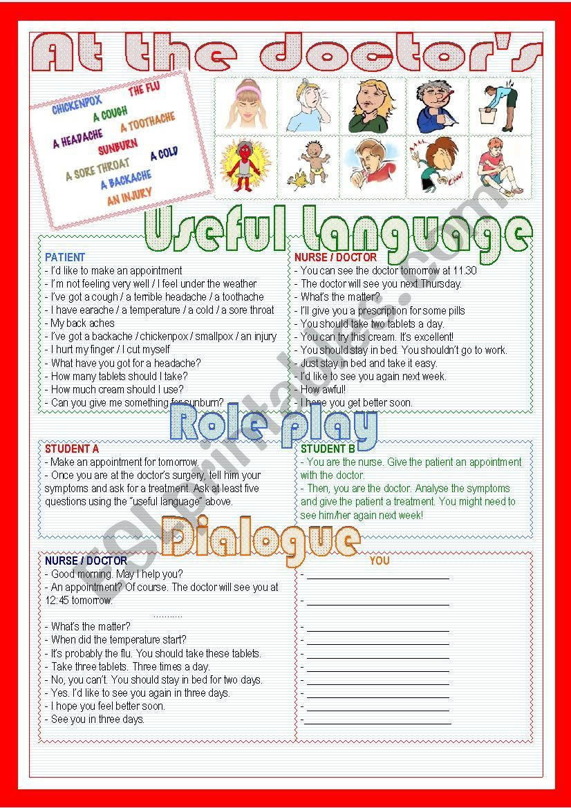It´s a worksheet for students to learn about symptoms ...