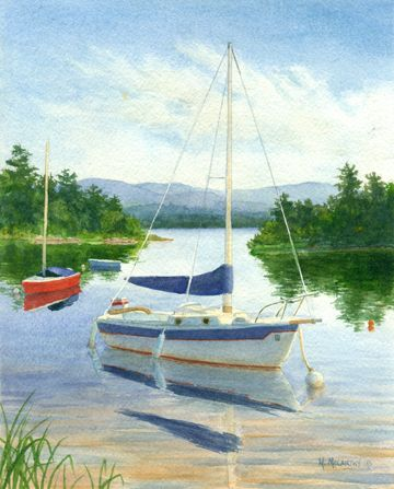 """Sailboats"" by Maureen McCarthy"
