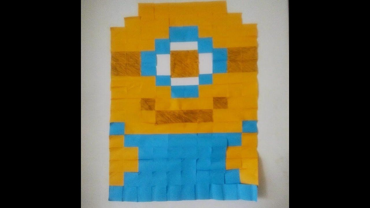 DIY Room Decor II Sticky Note Wall Art II Minion! | Projects to Try ...