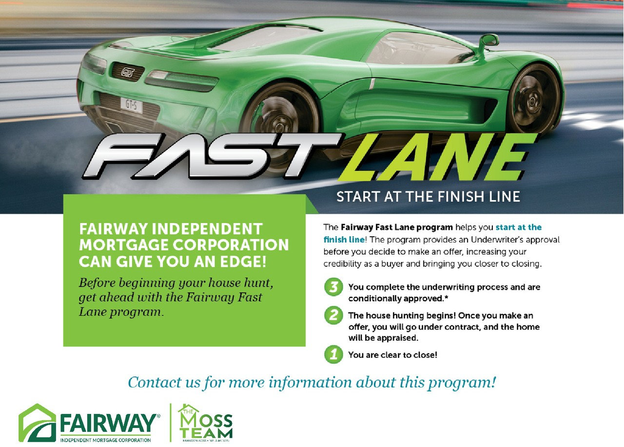 Fast Lane Start At The Finish Line Fairway Independent Mortgage
