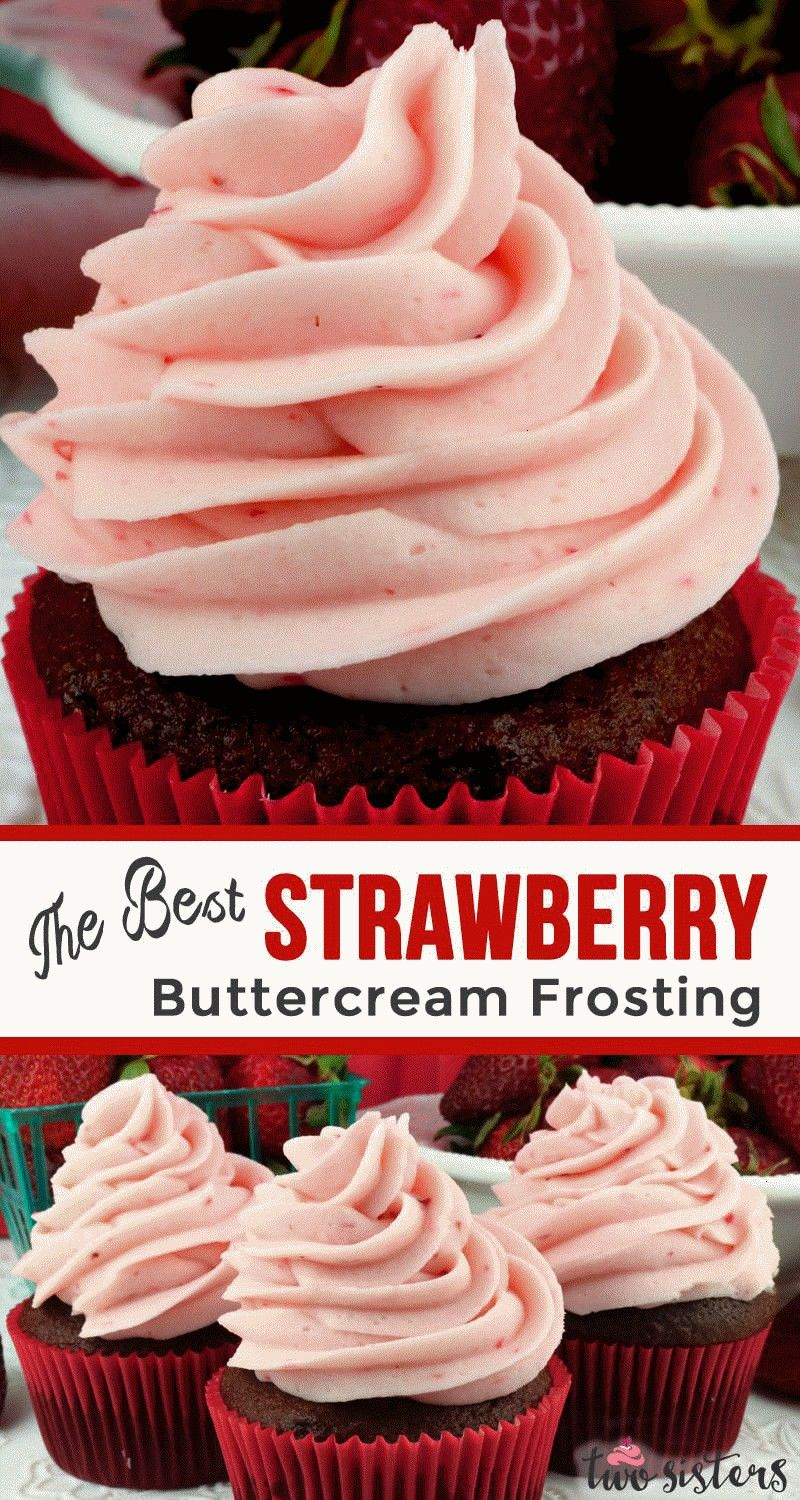 Best Strawberry Buttercream Frosting  never use store bought again Teaming with fresh strawberries this yummy Homemade Strawberry Frosting tastes amazing and is so easy t...