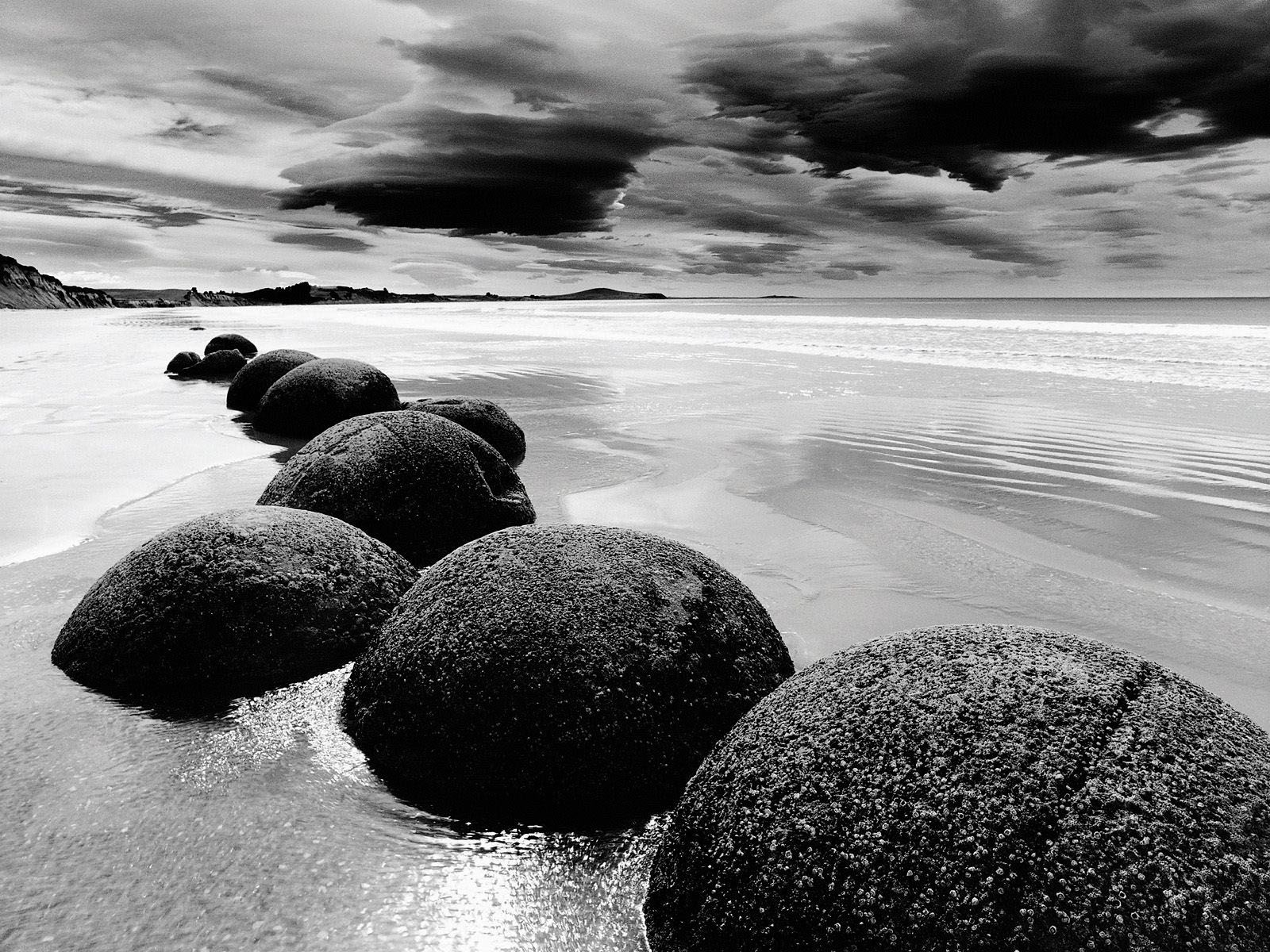 Desktop Backgrounds Beach Black And White