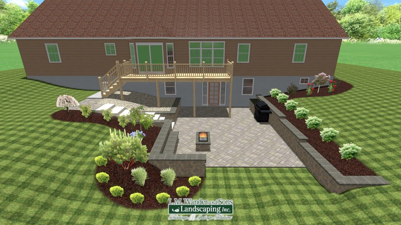 Back Yard Patio And Landscaping Design Realtime Landscape Architect By Sean Duncan Landscape Design Software Landscape Design Software Design