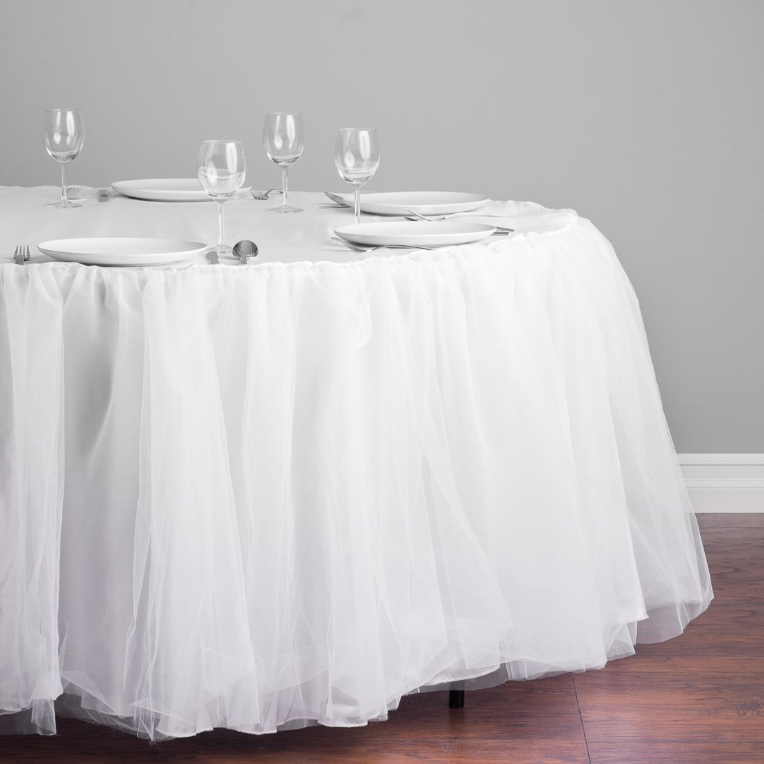 120 In Round Tutu Tablecloth White Head Table Decor Table Cloth Table Skirt