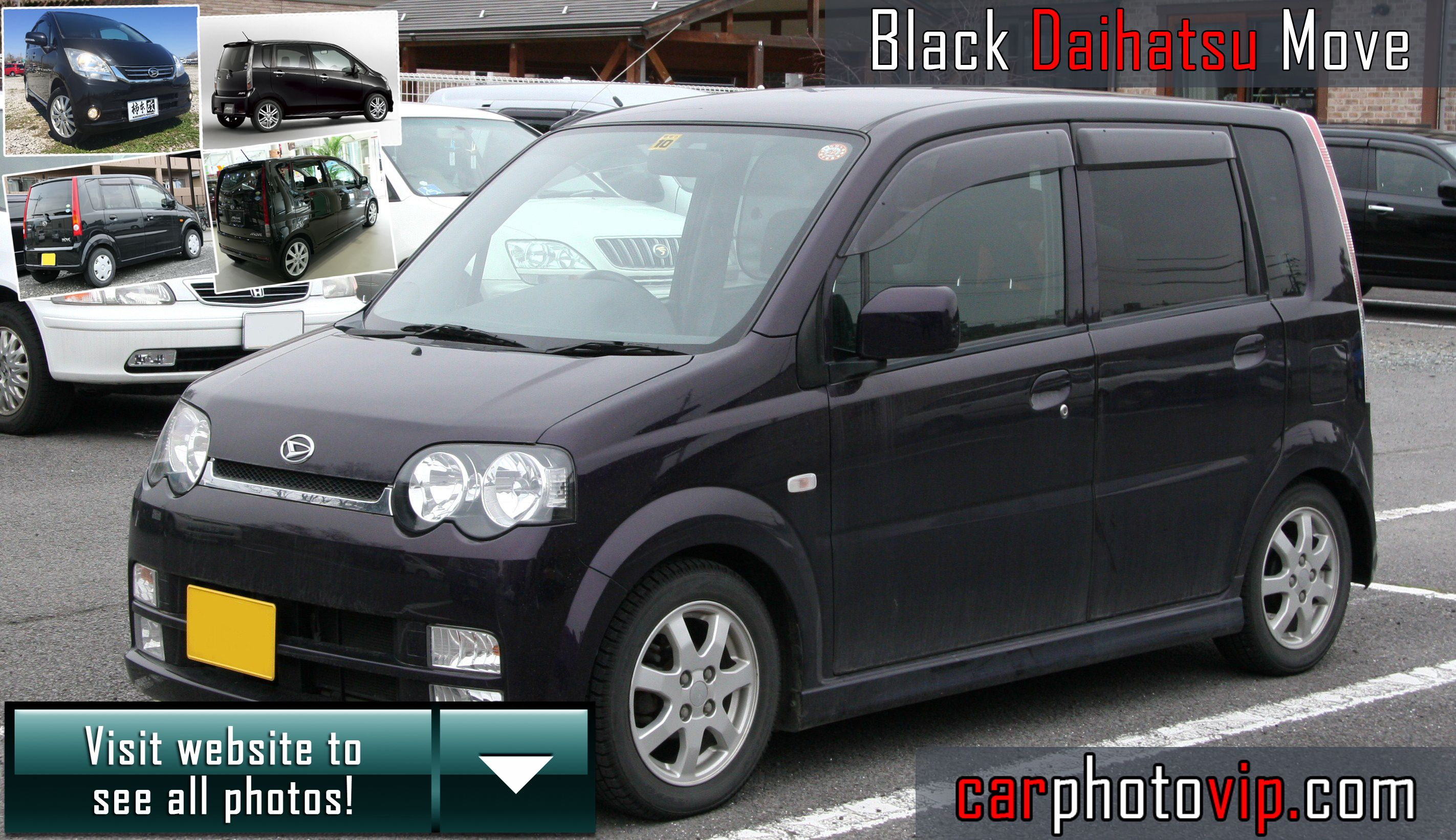Black Daihatsu Move With Images Daihatsu Cool Cars Kei Car