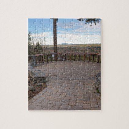 Backyard Gifts garden stone brick paver patio view deck jigsaw puzzle - backyard