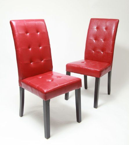 Best Chair Set Of 2 Solid Wood Leatherette Padded Parson 400 x 300