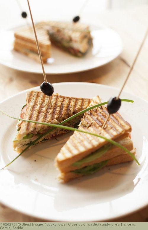 Close up of toasted sandwiches, Pancevo, Serbia, Serbia