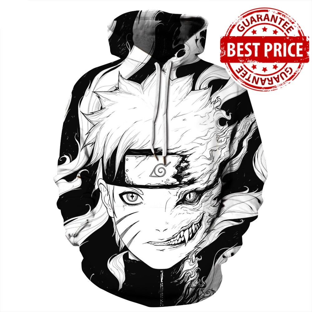 3D Naruto Hoodie Limited Edition White hooded sweatshirt