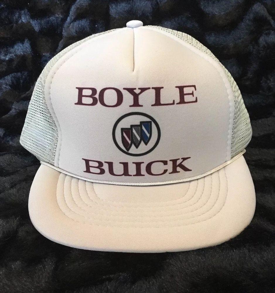 boyle buick mesh snapback trucker hat vintage ivory capital ebay trucker hat hats vintage mesh trucker hat pinterest