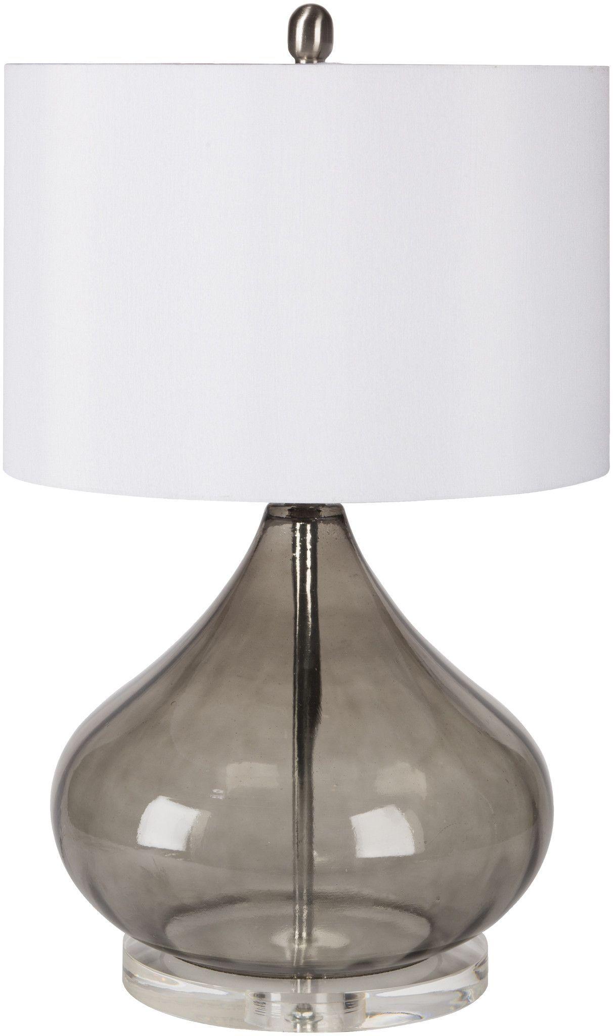 Pyrus Coastal Table Lamp Transparent Smoke White