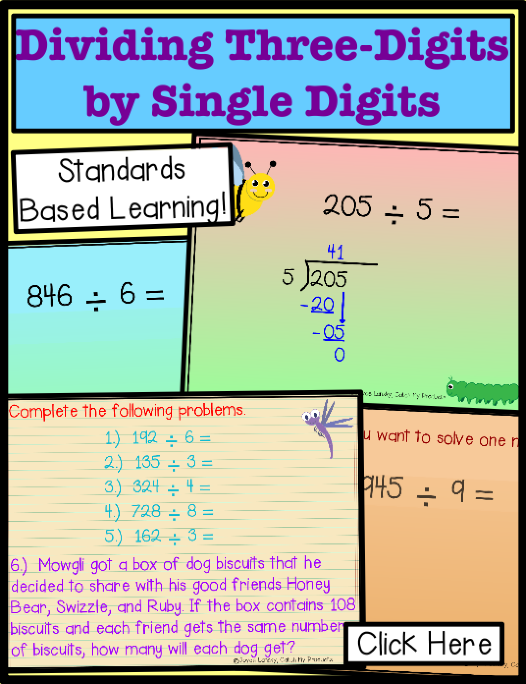Long Division Practice 4th Grade