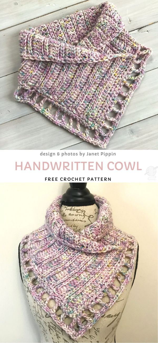 Photo of Handwritten Cowl Free Crochet Pattern