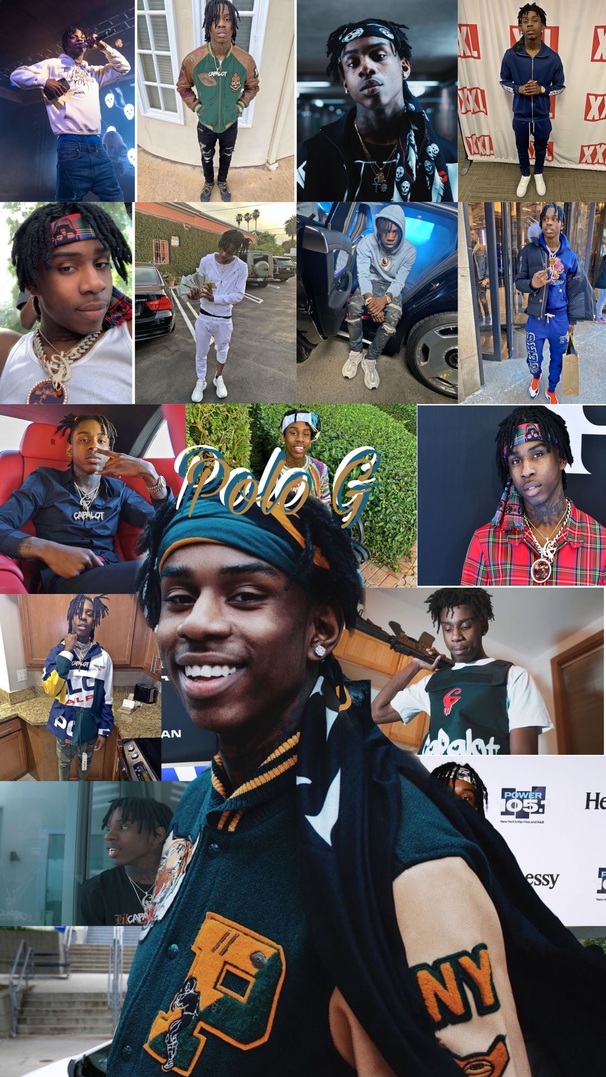 Pin Polo G Xoxoangeel Rapper Wallpaper Iphone Cute Rappers Edgy Wallpaper