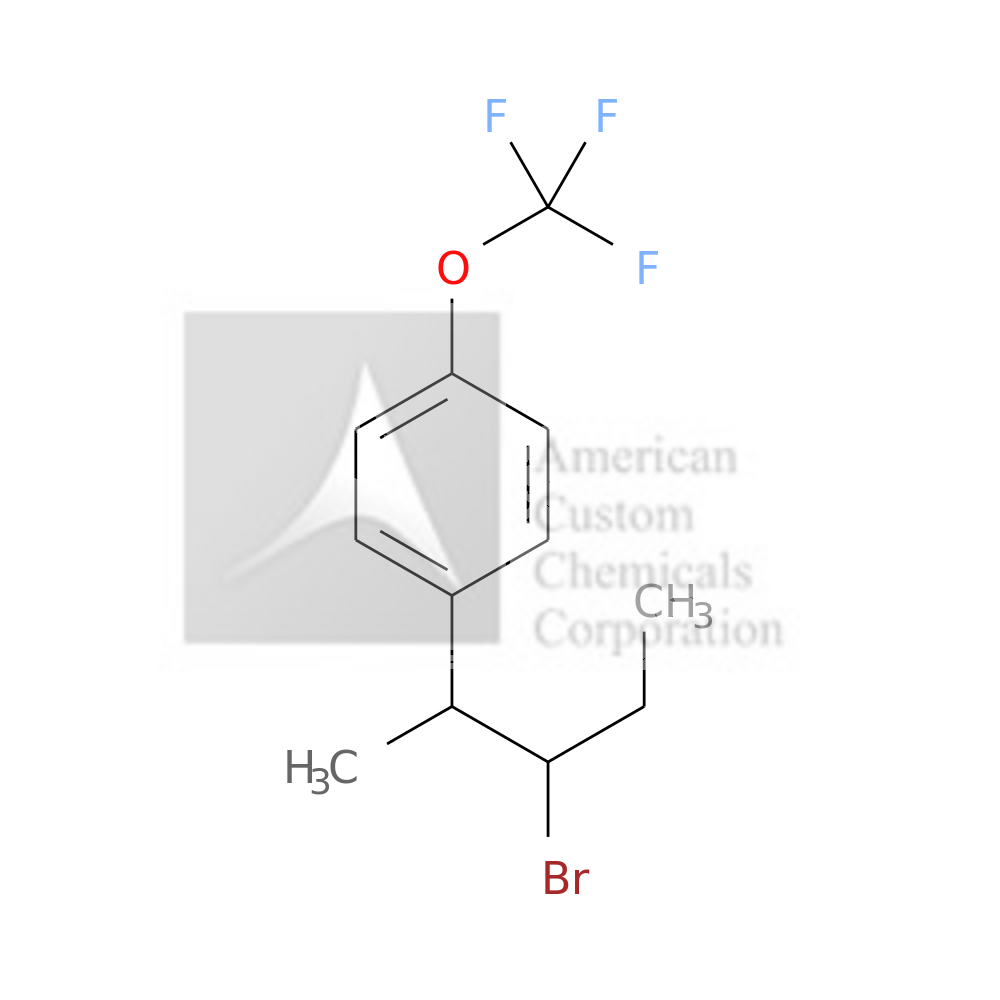 1-(3-BROMOPENTAN-2-YL)-4-(TRIFLUOROMETHOXY)BENZENE is now  available at ACC Corporation