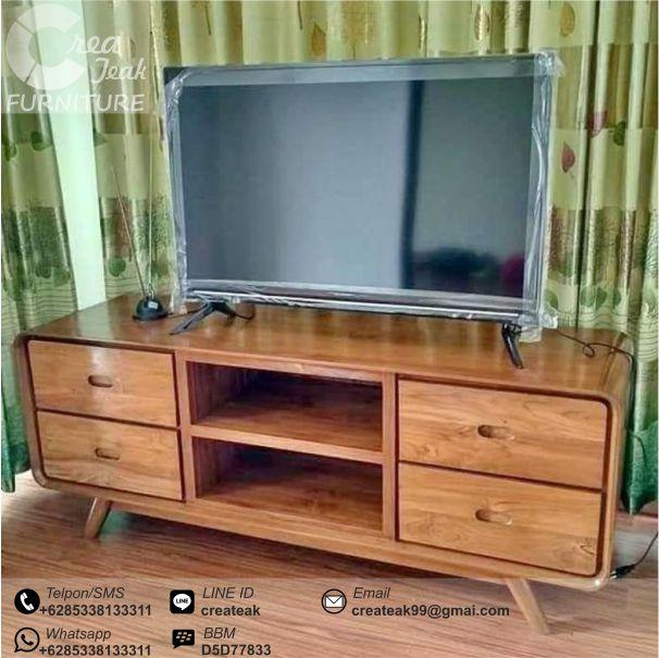 Bufet Tv Retro Minimalis Jati Murah Mebel Retro Jepara Createak