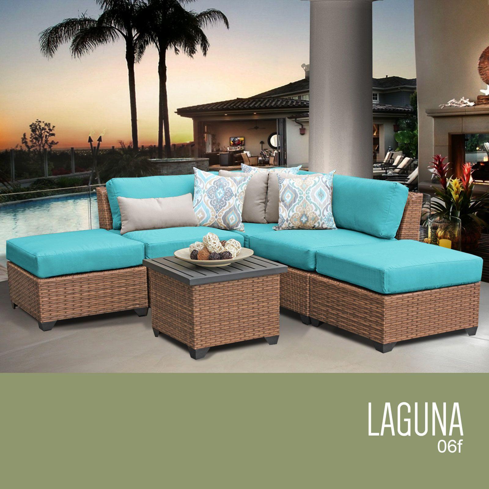Laguna 6 Piece Outdoor Wicker Patio Furniture Set 06f