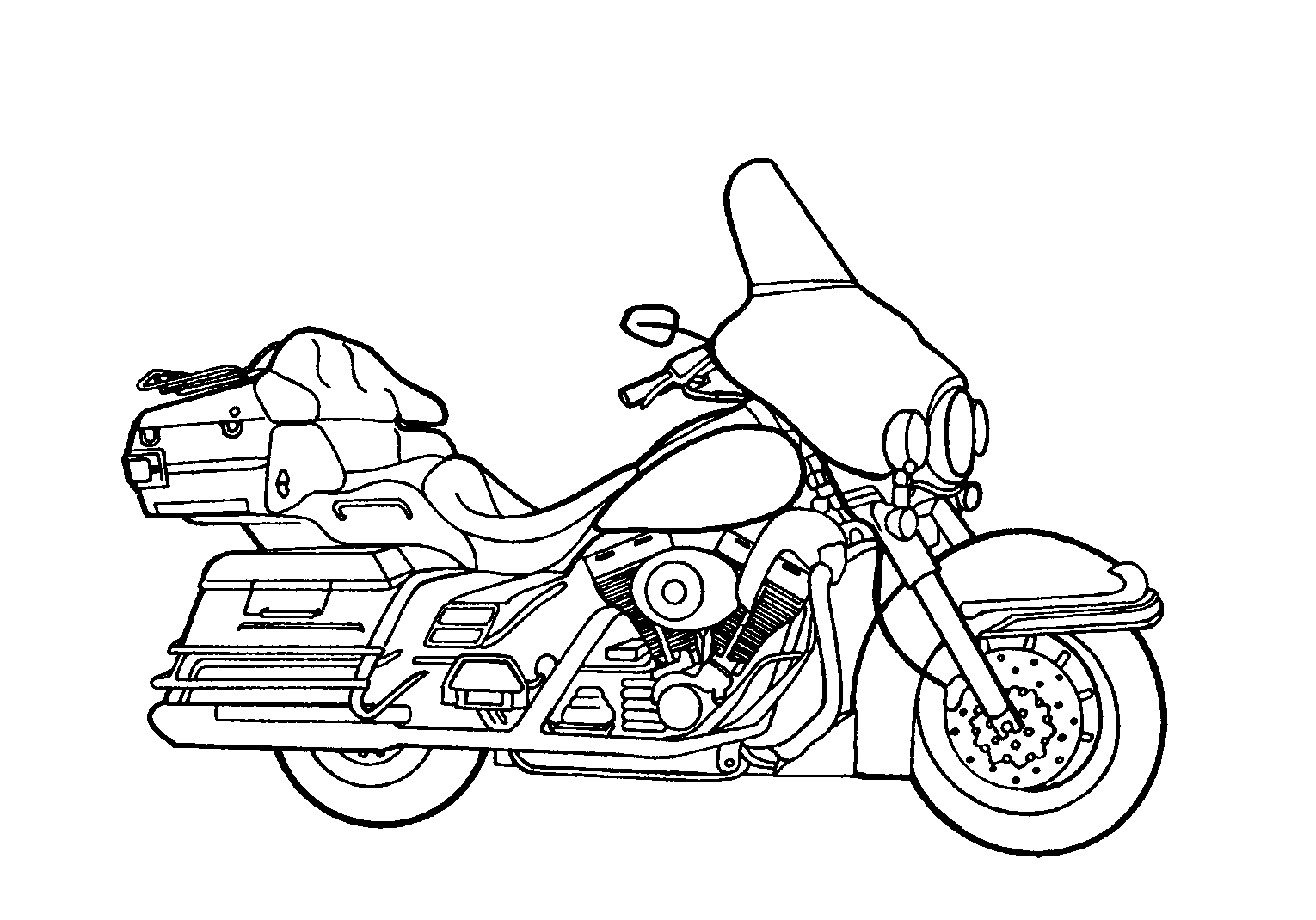 free harley davidson coloring pages - photo#16
