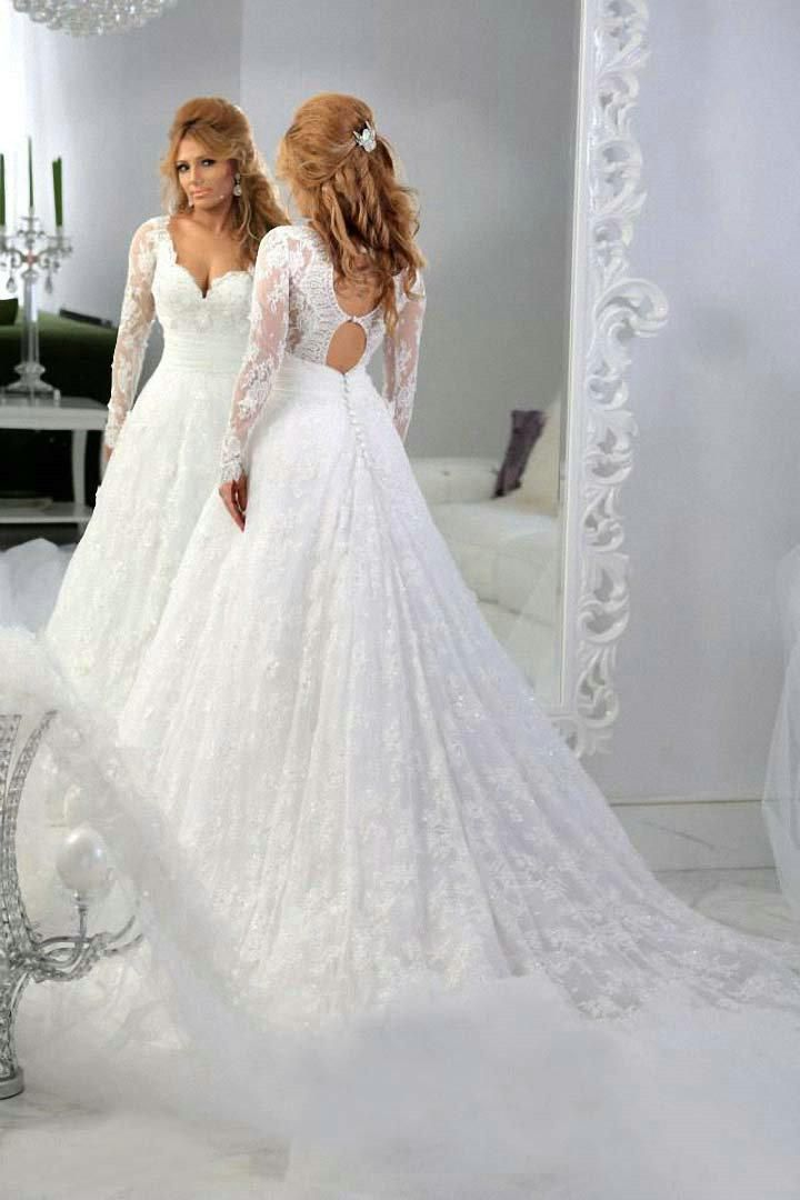 long sleeve sweetheart lace wedding dress « Bella Forte Glass ...